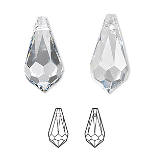 Drop swarovski crystals crystal clear 22x11mm faceted teardrop drop swarovski crystals crystal clear 22x11mm faceted teardrop pendant 6000 sold individually aloadofball Gallery