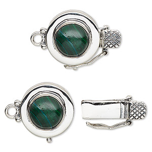 Box (Tab) Clasp Sterling Silver Greens