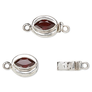 Box (Tab) Clasp Sterling Silver Reds