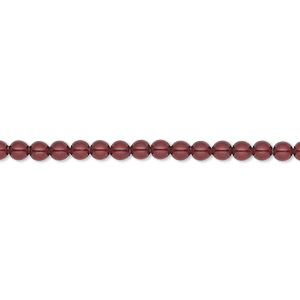 Pearl, Swarovski® Crystals, Bordeaux, 3mm Round (5810). Sold Per Pkg 1,000 5810