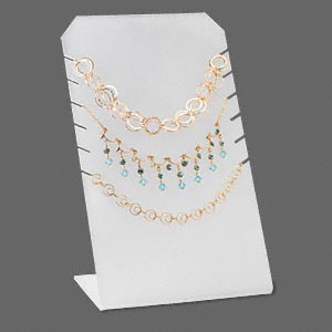 Necklace Displays Acrylic Whites
