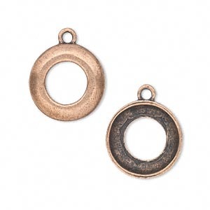 Drop and Link Settings Copper Plated/Finished Copper Colored
