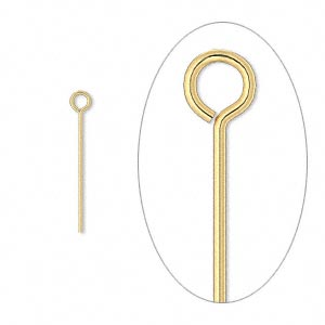 Eyepins Gold Plated/Finished Gold Colored