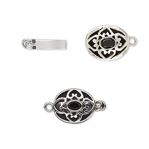 Box (Tab) Clasp Sterling Silver Blacks