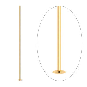 Headpin, 14Kt Gold, 1-1/2 Inches, 24 Gauge. Sold Individually
