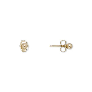 Earstud Earrings Gold Colored Create Compliments
