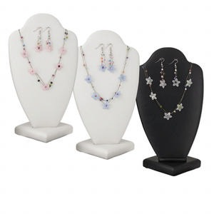 Necklace Earring, Acrylic / Glass Seed Beads / Nylon / Imitation Rhodium-finished Steel, Pink / White / Blue, 18mm Flower, 16 Inches 2-inch Extender Chain, Fishhook Earwires. Sold Per Pkg 3 Sets 1797JD