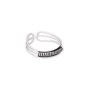 Finger Rings Silver Plated/Finished Blacks