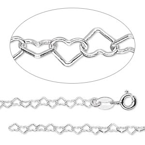 Chain Necklaces Sterling Silver Silver Colored