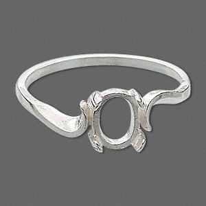 Ring Settings Sterling Silver Silver Colored
