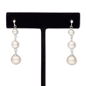 Earstud Earrings Freshwater Pearl Whites
