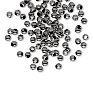 Spacer Beads Gunmetal Greys