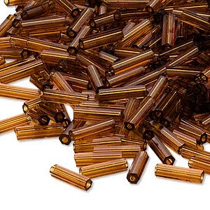 Bugle Beads Glass Browns / Tans