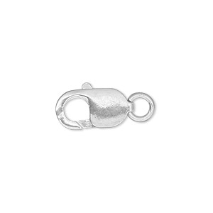 Lobster Claw Sterling Silver Silver Colored
