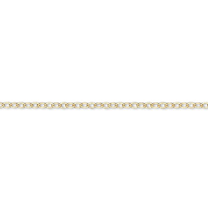 Chain, 14Kt Gold-filled, 1.6mm Flat Cable, 16 Inches Springring Clasp. Sold Individually