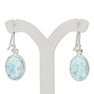 Fishhook Earrings Larimar Blues