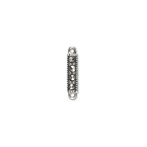 Links Marcasite Silver Colored