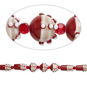 Beads Lampwork Glass Reds