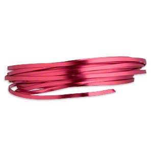 Wire, Anodized Aluminum, Red, 4x1.2mm Flat, 16 Gauge. Sold Per Pkg 18 Feet