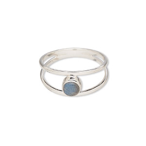 Finger Rings Labradorite Silver Colored