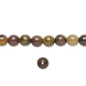 Beads Grade B Purple Creek Stone