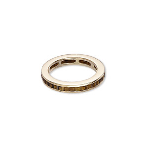Finger Rings Tigereye Gold Colored