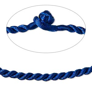 Necklace Bases Nylon Blues