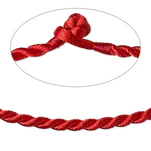 Necklace Cords Nylon Reds