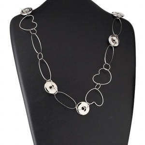 Continuous Loop Silver Colored Everyday Jewelry