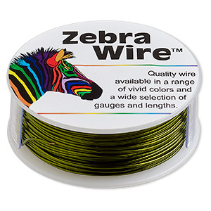 Wire, Zebra Wire™, Color-coated Copper, Lime Green, Round, 22 Gauge. Sold Per 1/4 Pound Spool, Approximately 45 Yards 2200WR