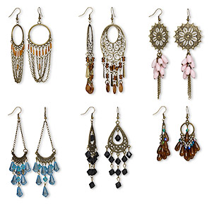 Earring Assortments Silver Colored Just for Fun