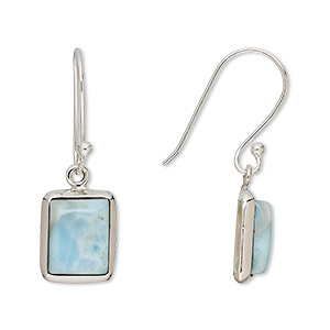 Fishhook Earrings Grade B Larimar