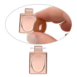 Pendant Settings Copper Plated/Finished Copper Colored
