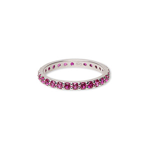 Finger Rings Rhodium-plated Pinks