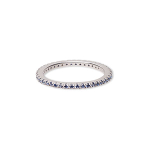 Finger Rings Rhodium-plated Blues