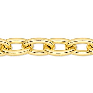 Unfinished Chain Aluminum Gold Colored