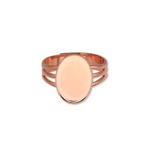 Ring Settings Copper Plated/Finished Copper Colored