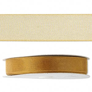 Fabric Ribbon Organza Gold Colored