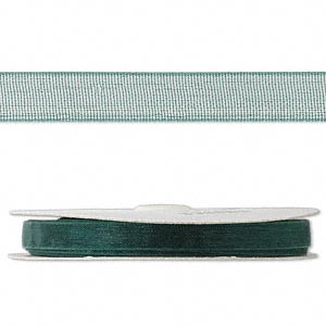 Fabric Ribbon Organza Greens