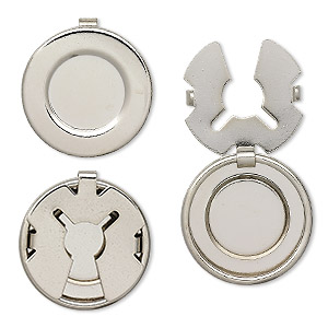 Button Covers Nickel Silver Colored