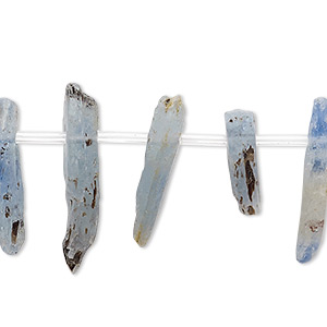 Bead, Blue Kyanite (natural), 15x3mm-25x7mm Hand-cut Top-drilled Stick, C- Grade, Mohs Hardness 4 7-1/2. Sold Per 8-inch Strand, Approximately 20 Beads 2415GE