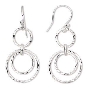 10= 5 PAIRS OF SILVER PLATED  40mm EARRINGS   WITH STERLING SILVER  WIRES