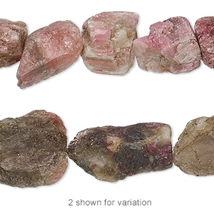 Bead, Multi-tourmaline (natural), Medium Rough Nugget, Mohs Hardness 7 7-1/2. Sold Per 8-inch Strand