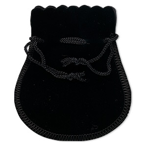 Pouches Velveteen Blacks