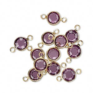 Links Swarovski Amethyst