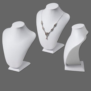 Necklace Displays Leatherette Whites