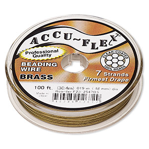 Beading Wire Brass Gold Colored