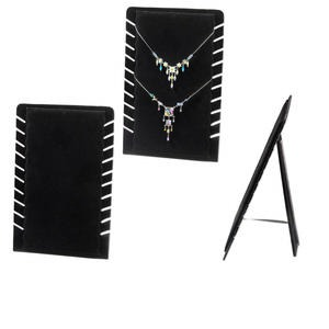 Necklace Displays Velveteen Blacks