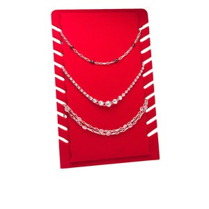 Necklace Displays Velveteen Reds