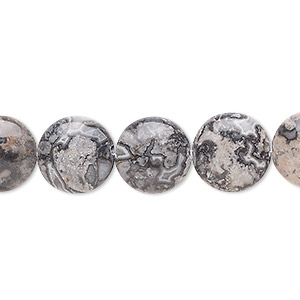Beads Grade B Silver Crazy Lace Agate